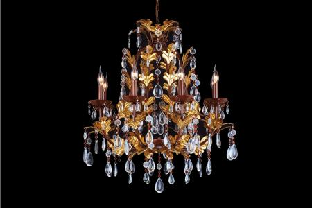 Crystal Chandelier Cayenne 8 light multi-colour