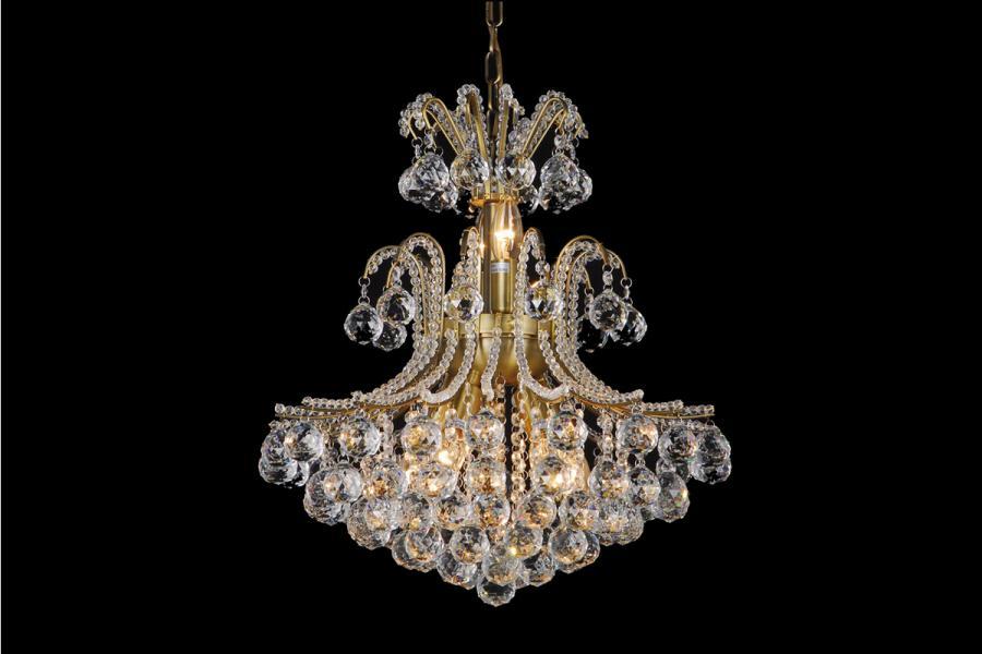 Kristallen kroonluchter romano 7 lichts kristal messing for Kristallen kroonluchter schoonmaken