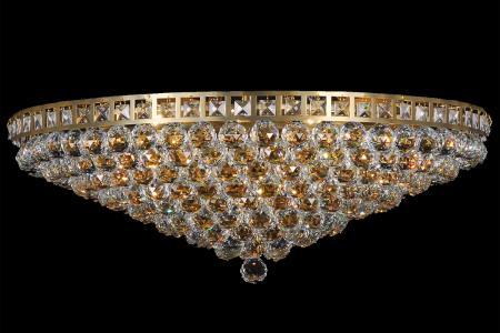Plafondlamp Amanda 12 lichts (kristal/goud) - Ø75cm