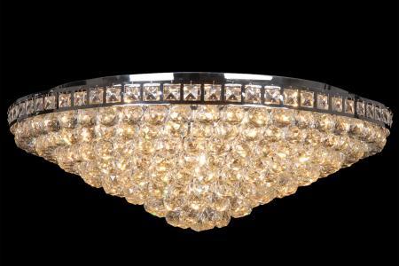 Ceiling lamp Amanda 12 lights chrome crystal