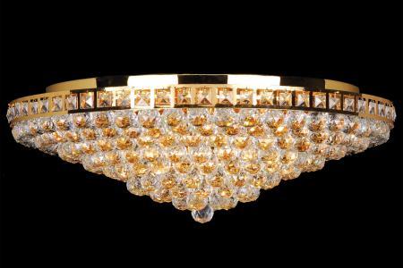 Plafondlamp Amanda 12 lichts (kristal/multi kleuren) - Ø75cm