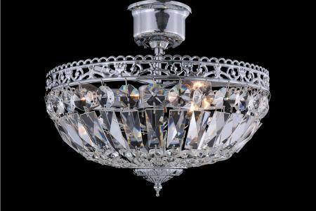 Plafondlamp Ruby 3 lichts (glas/chroom) - Ø33cm