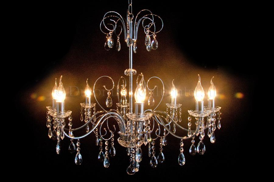 Stijlvol Kristallen Hanglampen : Kristallen kroonluchter ricci lichts chroom moderne