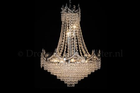 Crystal Pendant Diana 12 light 50cm crystal chrome