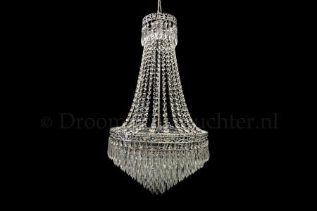 Empire chandelier Claire crystal 9 light 18.9 inch chrome