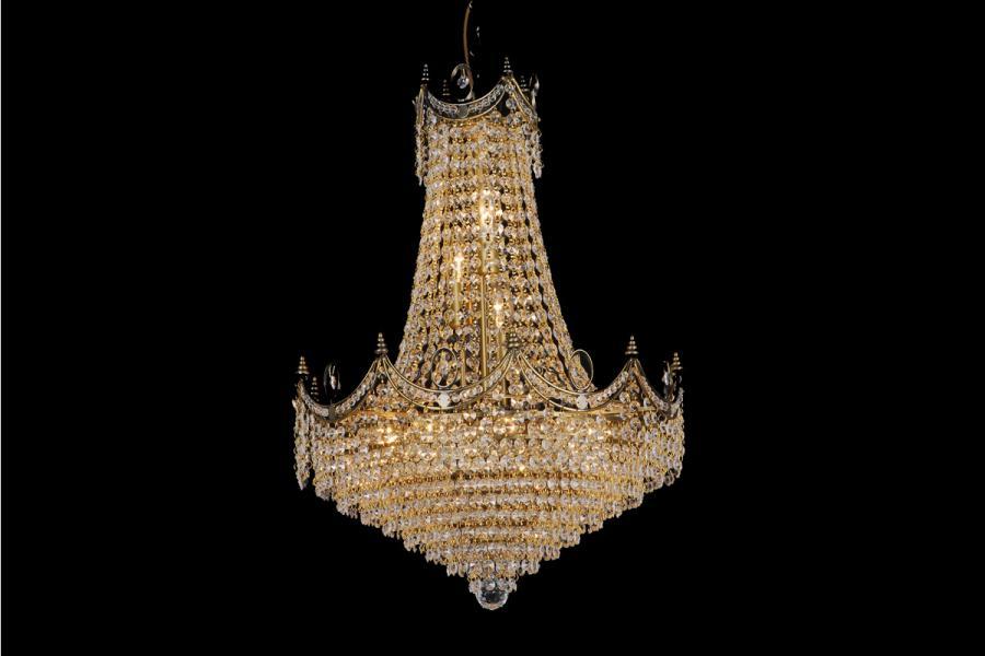 Zakkroonluchter Diana 12 lichts (kristal/multi-kleuren) - Ø50cm