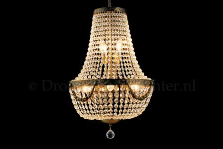 Empire chandelier Firmeno 6 light 40cm crystal bronze