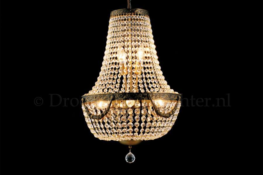 Zakkroonluchter Firmeno 6 lichts (kristal/brons) - Ø40cm