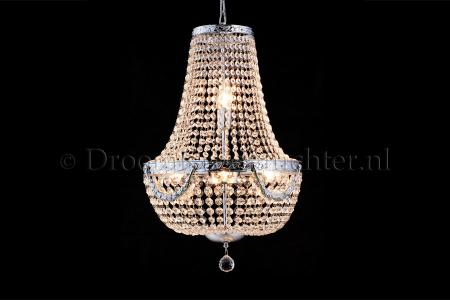 Empire chandelier Firmeno 6 light 40cm crystal (chrome bewerkt)