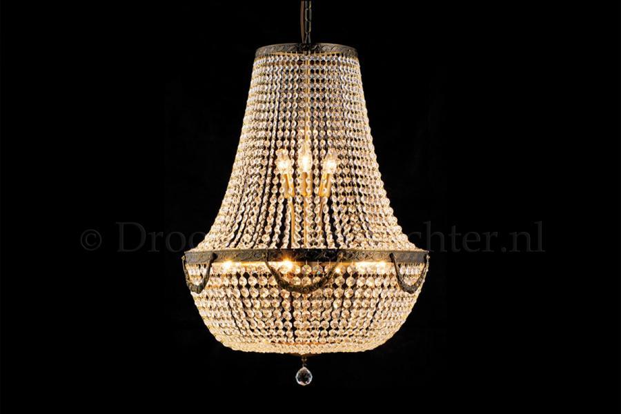 Zakkroonluchter Firmeno 12 lichts (kristal/brons) - Ø60cm