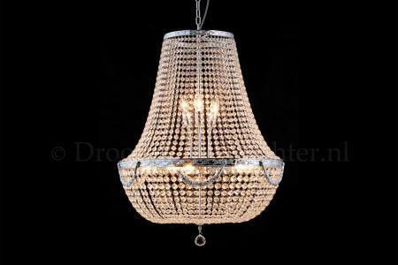 Zakkroonluchter Firmeno 12 lichts (kristal/chroom bewerkt) - Ø60cm