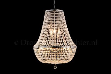 Zakkroonluchter Firmeno 12 lichts (kristal/zilver) - Ø60cm