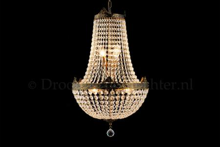 Empire chandelier Juliana 6 light 40cm crystal bronze