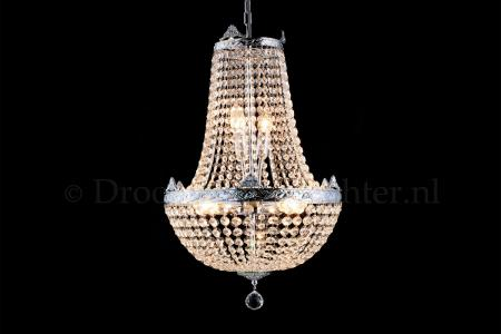 Empire chandelier Juliana 6 light 40cm crystal (chrome bewerkt)