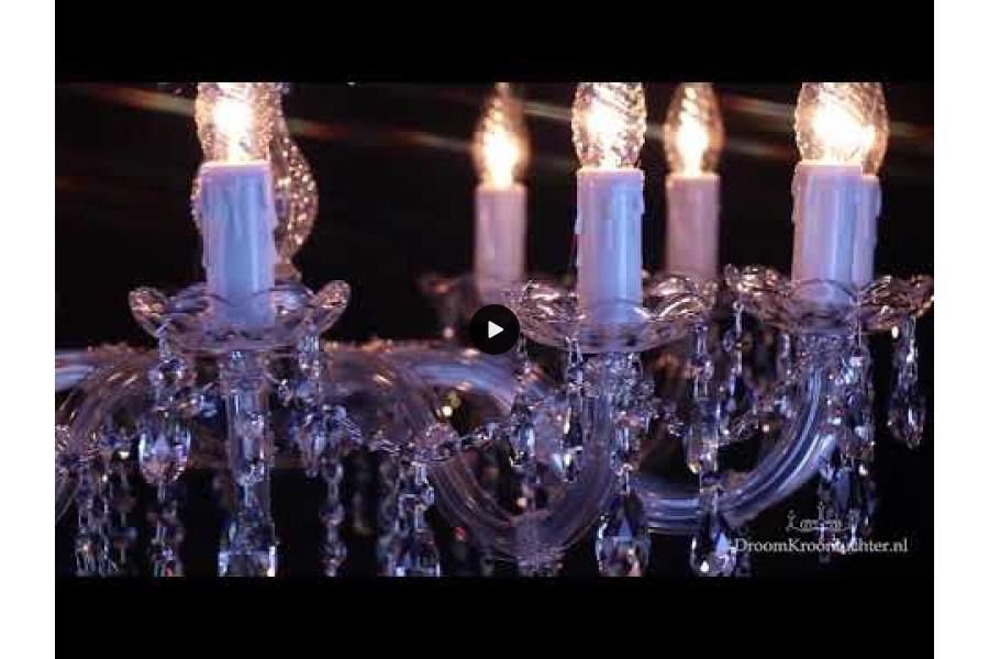 Kristallen Kroonluchter Maria Theresa 12 lichts (kristal/chroom) - Ø75cm